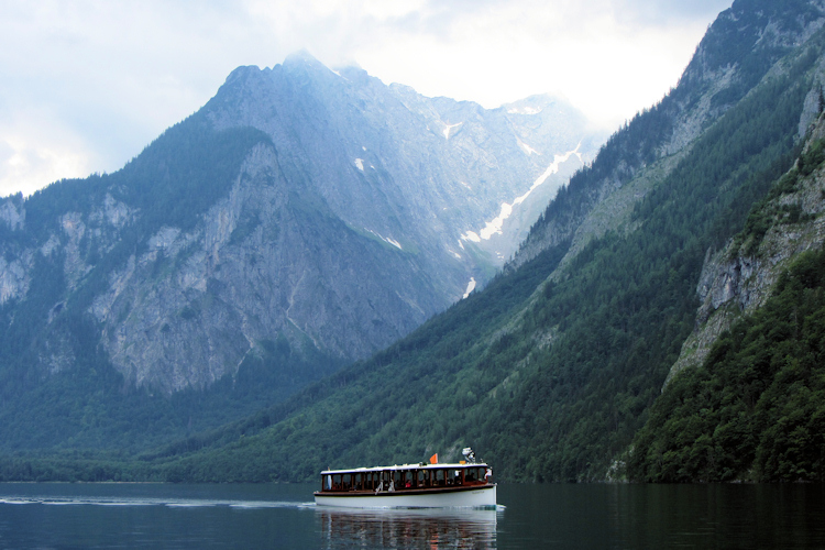 The Konigssee in Bavaria (Bayern)