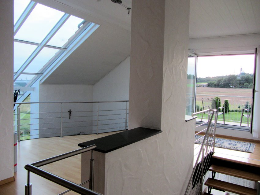Glass roof panels over our living room