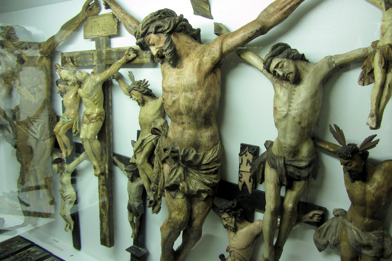 Crucifixes in the Museumsdorf Bayerischer Wald