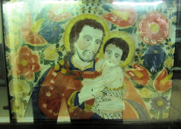 Painting of St. Joseph in the Museumsdorf Bayerischer Wald