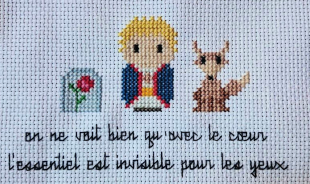 Little Prince embroidery by Elena Dunkle