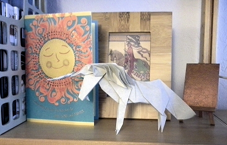 Origami Unicorn Made by a Reader