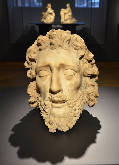 Alabaster head of John the Baptist in the Rijksmuseum, Amsterdam, the Netherlands